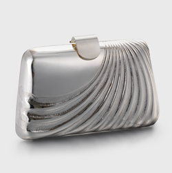 Something new – silver clutch bag by Katey Felton