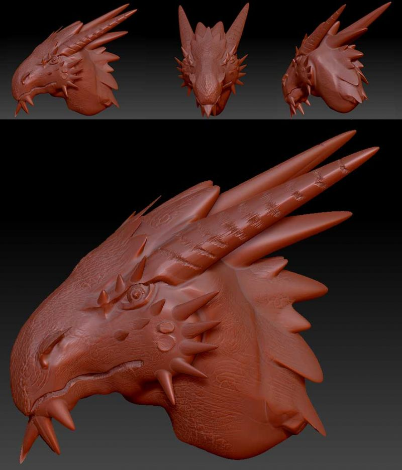 What a mission! this is my first attempt at a more serious dragon project for teaching myself 3D modelling using Zbrush. The only reason I'm learning it is to create accurate height levels for 3D engraving. In reality, for engravings down to the size of a signet ring, I may not need too much fine detail for them to look good.