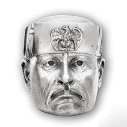 Stephen M Goldsmith Kchs - In the old, talismanic tradition of rings carved as Kings & classical Gods, Heroes & Villains has been conceived. Brilliantly sculpted & superbly crafted from Silver, some people's hero is another's villain. It is not for us to comment on who is what. We leave that for you to decide.